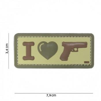 PARCHE PVC I LOVE MY GUN MULTICAM