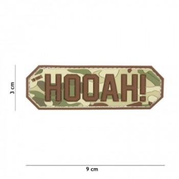 PARCHE PVC HOOAH! MULTICAM
