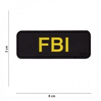 PARCHE PVC TIRA FBI NEGRO