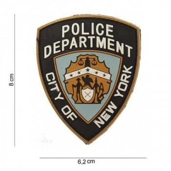PARCHE PVC DEPARTAMENTO DE POLICIA DE NUEVA YORK NEGRO