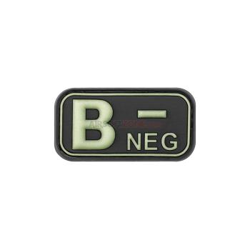 copy of PARCHE PVC GRUPO SANGUINEO B+ NEGRO