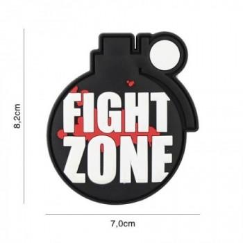 PARCHE PVC FIGHT ZONE NEGRO