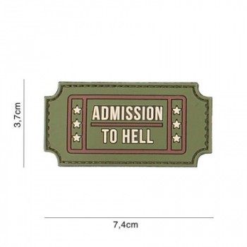 PARCHE PVC ADMISSION TO HELL VERDE