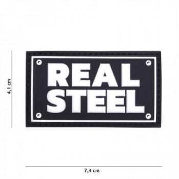 PARCHE PVC REAL STEEL NEGRO/BLANCO