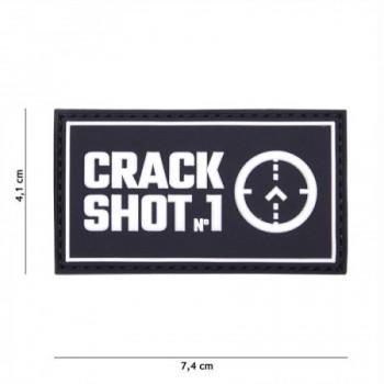 PARCHE PVC CRACK SHOT NEGRO