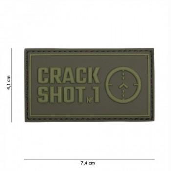 PARCHE PVC CRACK SHOT VERDE