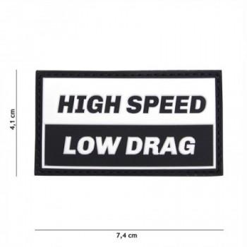 PARCHE PVC HIGH SPEED NEGRO/BLANCO