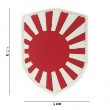PARCHE PVC BANDERA ESCUDO JAPON ORIGINAL