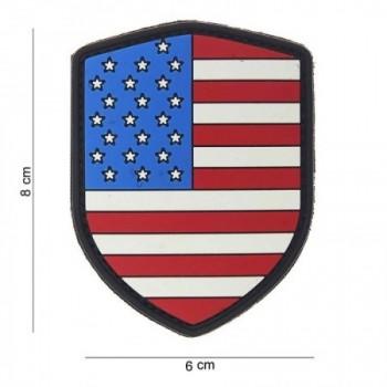 PARCHE PVC BANDERA ESCUDO USA ORIGINAL