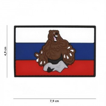 PARCHE PVC BANDERA & OSO RUSIA ORIGINAL